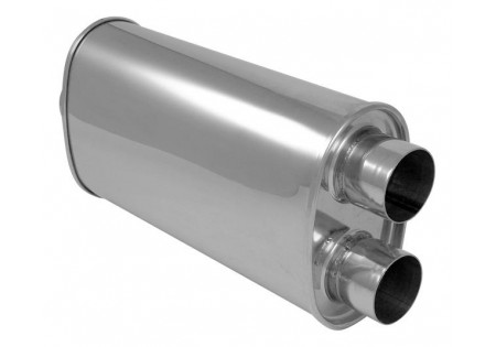 Vibrant StreetPower Oval Muffler 3-2.5in Center-Dual