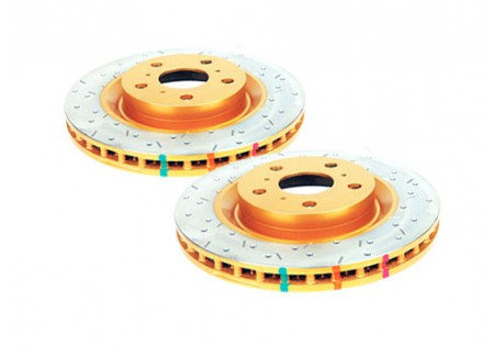 DBA 4000XS HD Drilled & Slotted Front Brake Rotors